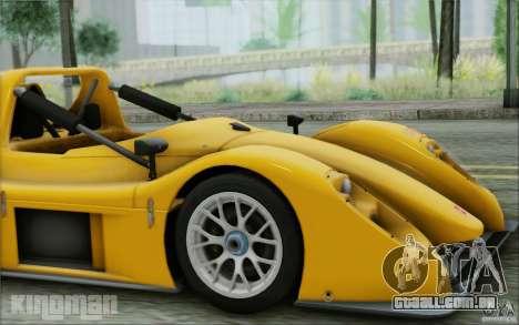 Radical SR3 RS 2009 para GTA San Andreas vista traseira
