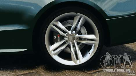 Audi S5 para GTA 4 vista inferior