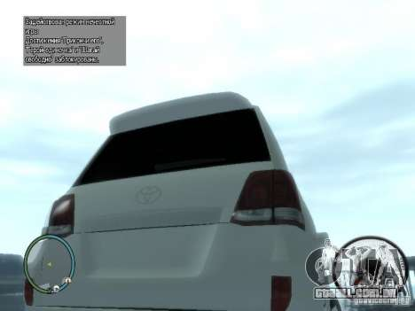 Toyota Land Cruiser 200 FINAL para GTA 4 vista direita
