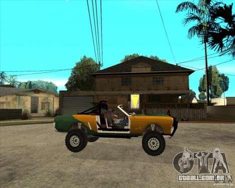 Ford Mustang Sandroadster para GTA San Andreas vista direita