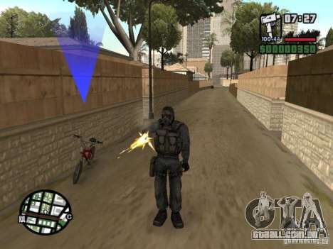 Mercenário de perseguidor em máscara para GTA San Andreas segunda tela