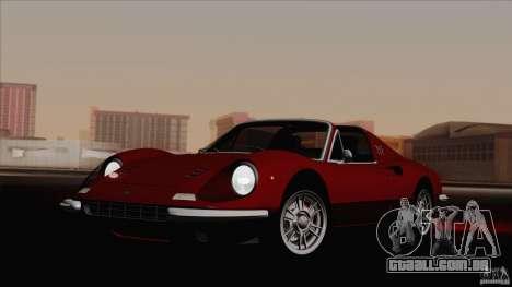 Ferrari 246 Dino GTS para GTA San Andreas traseira esquerda vista