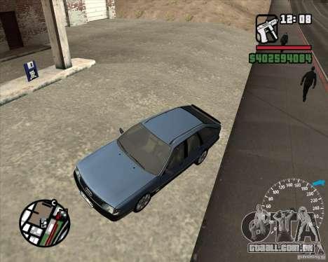 Audi 100 Avant para GTA San Andreas vista interior