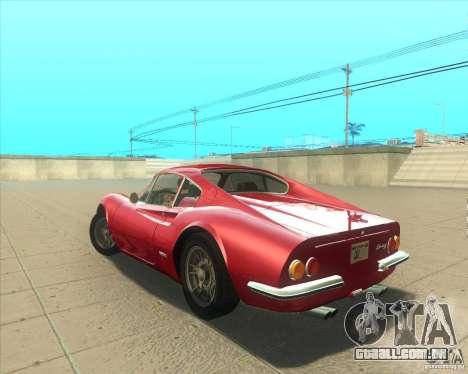 Ferrari Dino 246 GT para GTA San Andreas esquerda vista