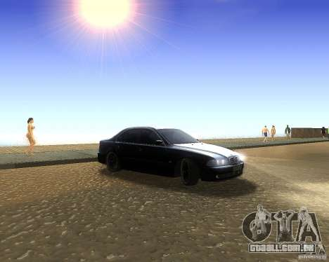 BMW 525i e39 para GTA San Andreas esquerda vista