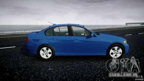 BMW 3-Series Unmarked [ELS] para GTA 4 vista de volta