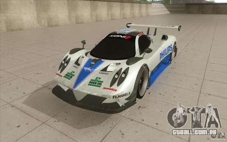 Pagani Zonda Racing Edit para GTA San Andreas
