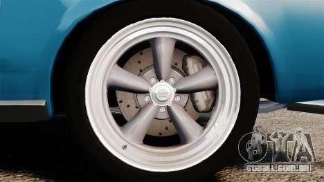 Ford Mustang Customs 1967 para GTA 4 vista de volta