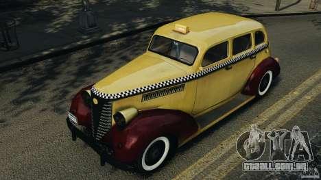 Shubert Taxi para GTA 4 vista interior