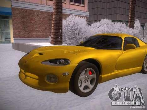 Dodge Viper 1996 para GTA San Andreas traseira esquerda vista