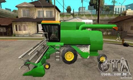 Combine Harvester Retextured para GTA San Andreas esquerda vista