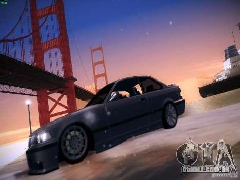 BMW M3 E36 320i Tunable para GTA San Andreas traseira esquerda vista