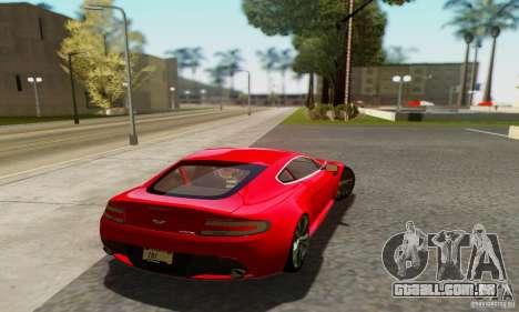 Aston Martin V12 Vantage para GTA San Andreas