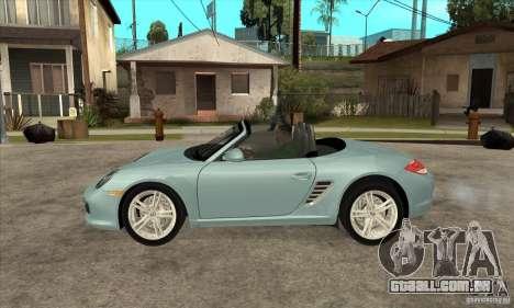 Porsche Boxster S 2010 para GTA San Andreas esquerda vista