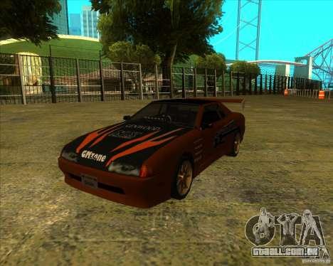 Elegia com novos spoilers para GTA San Andreas traseira esquerda vista