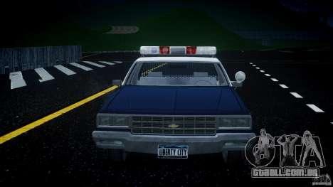Chevrolet Impala Police 1983 v2.0 para GTA 4 vista inferior