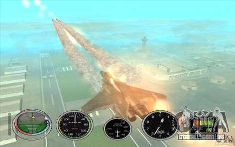 Rápido lançamento de foguete a Hydra e Hunter para GTA San Andreas por diante tela