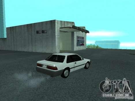 Honda Accord para GTA San Andreas vista direita