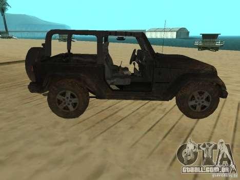 Jeep Wrangler SE para GTA San Andreas esquerda vista
