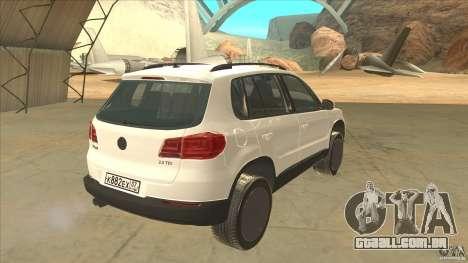 Volkswagen Tiguan 2012 v2.0 para GTA San Andreas vista direita