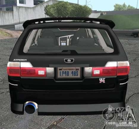 Nissan Stagea para GTA San Andreas traseira esquerda vista