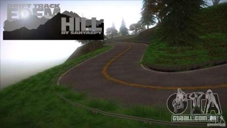 Edem Hill Drift Track para GTA San Andreas terceira tela