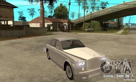 Rolls Royce Coupe 2009 para GTA San Andreas vista traseira