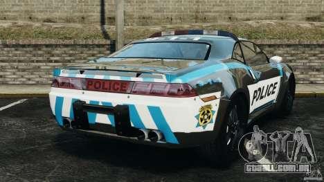 NFSOL State Police Car [ELS] para GTA 4 traseira esquerda vista