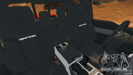 Ford F-150 SVT Raptor para GTA 4 vista interior