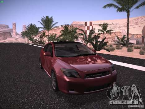 Scion tC para GTA San Andreas traseira esquerda vista