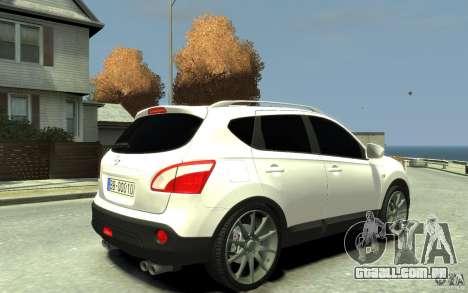 Nissan Qashqai 2010 para GTA 4 vista direita