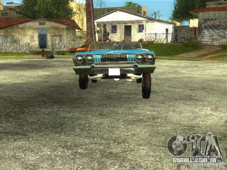 Chevrolet Impala 1964 (Lowrider) para GTA San Andreas vista direita