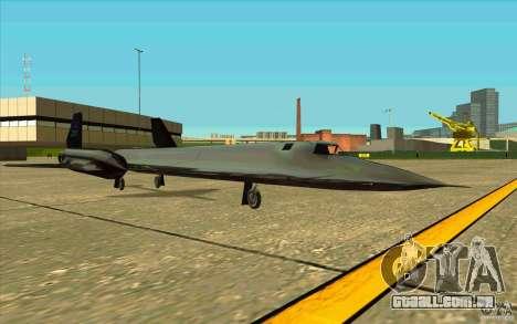 SR-71A BLACKBIRD BETA para GTA San Andreas vista direita