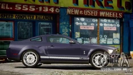 Shelby GT500KR 2008 para GTA 4 esquerda vista