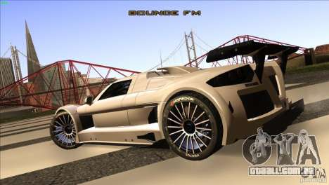 Gumpert Apollo para GTA San Andreas vista traseira