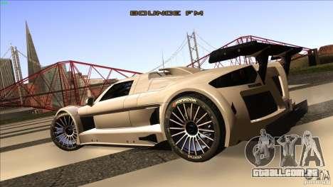 Gumpert Apollo para GTA San Andreas vista traseira