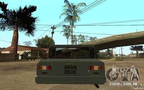 Dkns Inválido para GTA San Andreas traseira esquerda vista