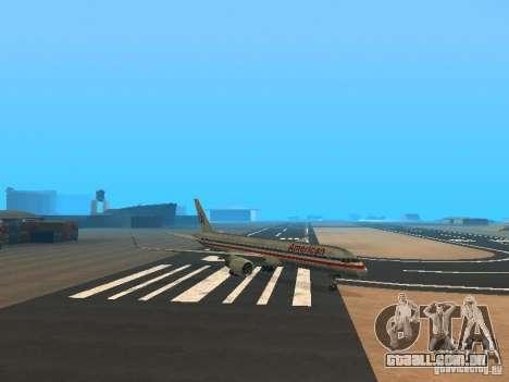Boeing 757-200 American Airlines para GTA San Andreas esquerda vista