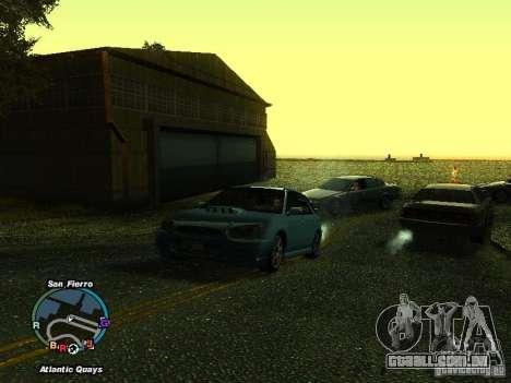 Subaru Impreza Wagon 2004 - 2002 para GTA San Andreas traseira esquerda vista