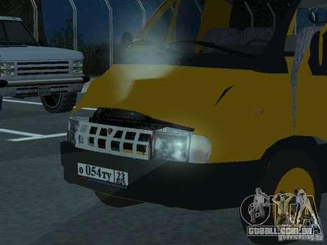 Táxi de gazela para GTA San Andreas vista traseira