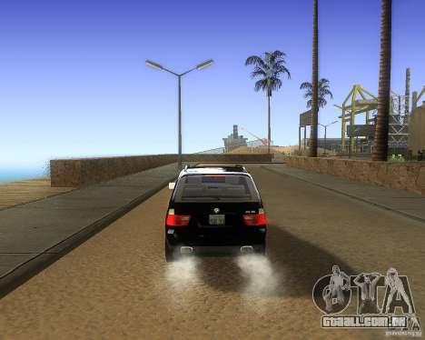 BMW X5 4.8 IS para GTA San Andreas vista direita