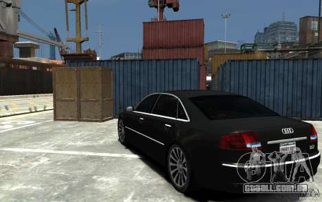 Audi A8L W12 Quattro para GTA 4 traseira esquerda vista