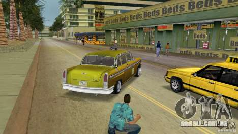 Cabbie HD para GTA Vice City vista traseira esquerda