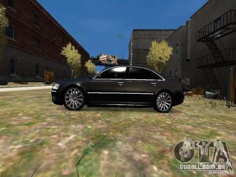 Audi A8L W12 para GTA 4 esquerda vista