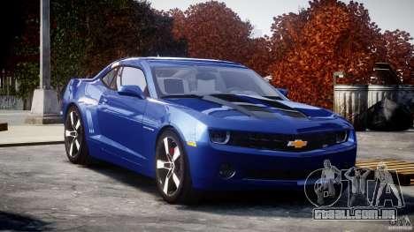 Chevrolet Camaro v1.0 para GTA 4 vista de volta