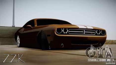 Dodge Challenger Socado Com Rotiform FIXA para GTA San Andreas traseira esquerda vista