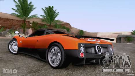 Pagani Zonda F para GTA San Andreas vista inferior