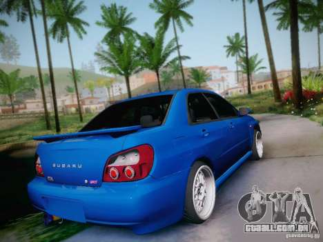 Subaru Impreza WRX STI para GTA San Andreas esquerda vista