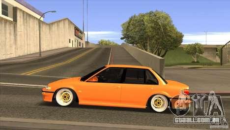 Honda Civic EF9 Sedan para GTA San Andreas esquerda vista