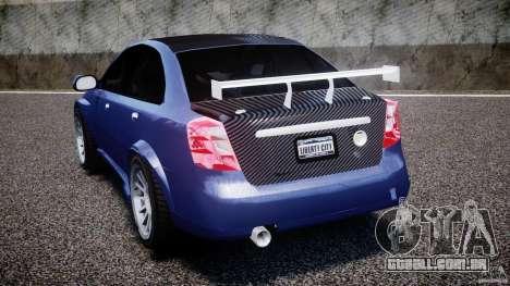 Chevrolet Lacetti WTCC Street Tun [Beta] para GTA 4 traseira esquerda vista